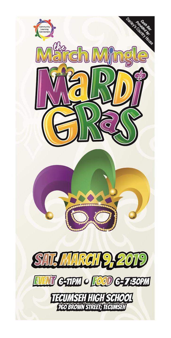 2019 March Mingle Mardi Gras Event Invite Image